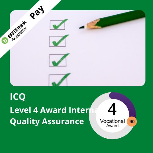 ICQ Level 4 Award in IQA